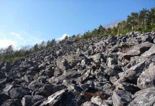 岩塊斜面 ガレ場