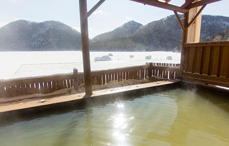 然別湖畔温泉ホテル風水 露天風呂