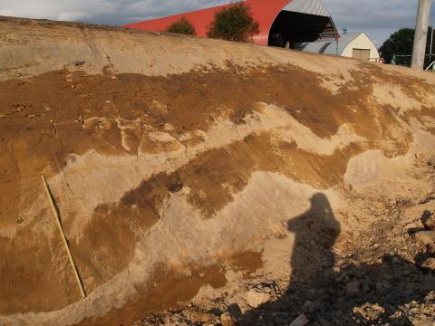 東瓜幕の国道工事現場に表れた地層
