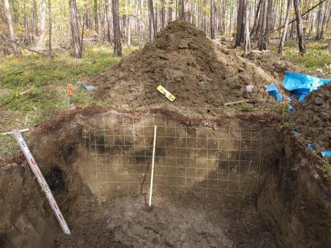 シベリア内陸部・ヤクーツク郊外で見つけた曲がった地層
